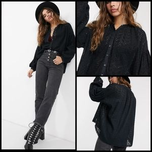 🆕 Free People eyelet oversized top size XS